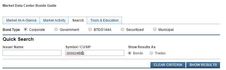 GE bond search